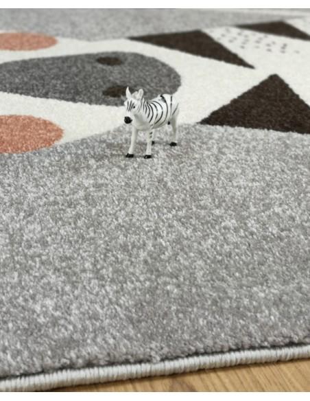 Tapis animaux,Tapis enfant: le zèbre KIKA