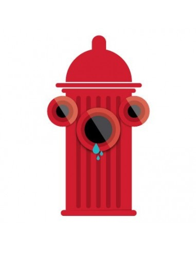 Stickers Pompier,sticker enfant: bouche d'incendie