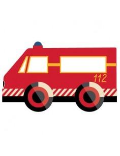 Stickers Pompier,sticker enfant: camion pompier V2