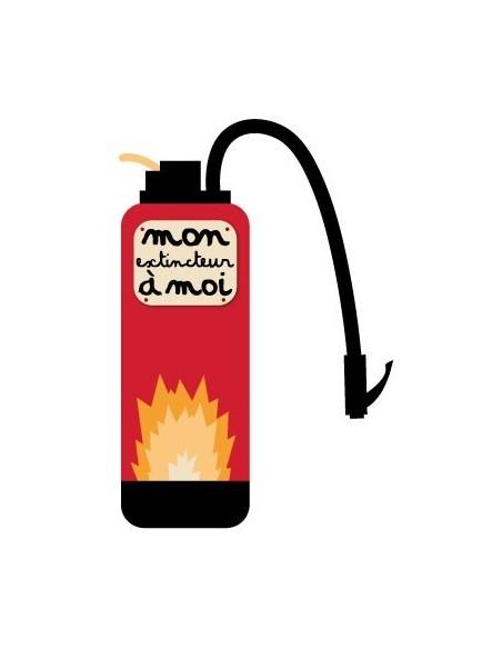 Stickers Pompier,Sticker chambre enfant: extincteur