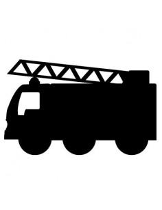 Stickers Pompier,sticker ardoise: camion de pompier