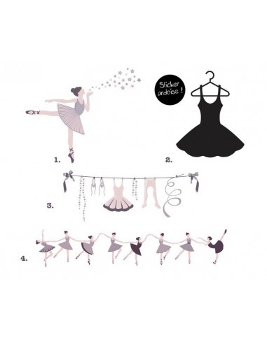 Stickers Danseuse,Kit Stickers: Danse