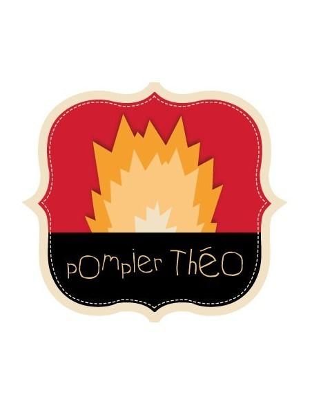Stickers Pompier,Sticker Prénom à personnaliser: Écusson Feu