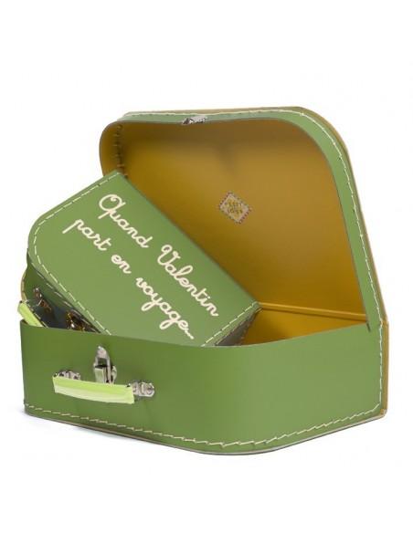 Boîtes & Paniers de rangement,Valisette à Personnaliser Verte