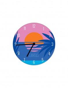 Horloges,Horloge enfant personnalisable: Pioupiou coucher de