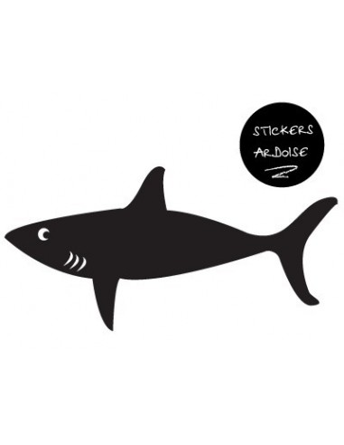 Stickers Pirates,Sticker ardoise: requin pirate