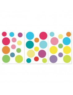 Sticker mural : Ronds couleurs