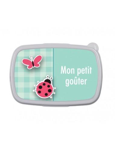 Ma boîte à goûter papillon et coccinelle