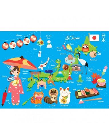 Poster enfant,Poster Géant plastifié: Carte du japon