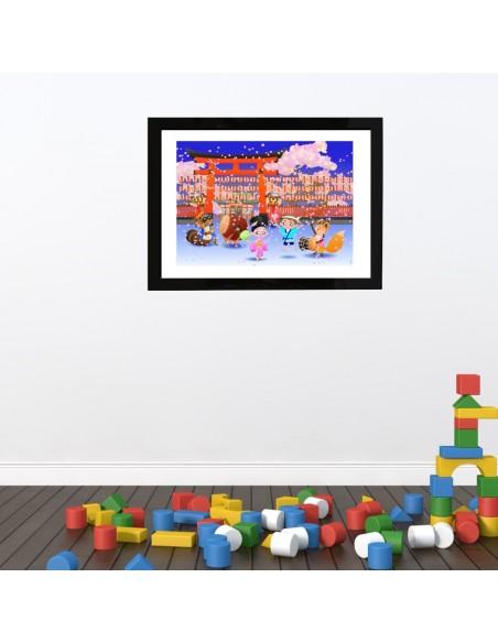 Poster enfant,Poster Géant plastifié: Hanami Masturi