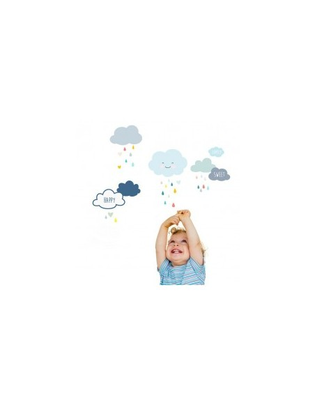 Stickers Graphiques,Stickers muraux: Frise nuages