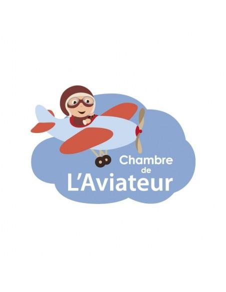 Chambre Voitures & Transports,Sticker de porte Enfant: Aviateur