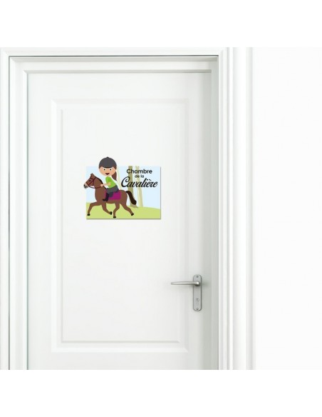 Autres Décorations,Sticker de porte enfant: Cavalière