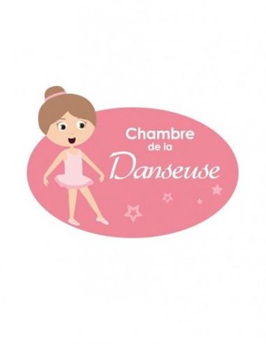 Chambre Danseuse,Sticker de porte Enfant: Danseuse