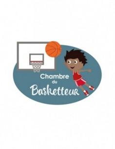 Chambre Enfant Bleu,Sticker de porte Enfant: Basketteur