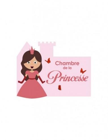 Chambre Princesse,Sticker de porte Enfant: Princesse