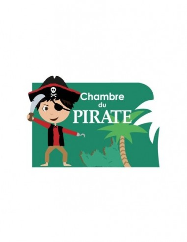 Chambre Pirate,Sticker de porte Enfant: Pirate