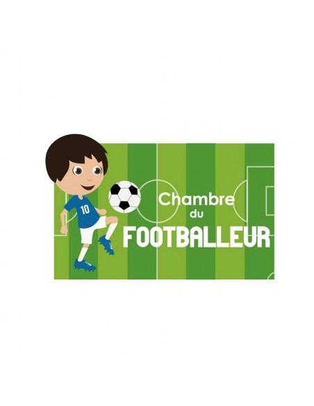 Chambre Foot,Sticker de porte Enfant: Footballeur