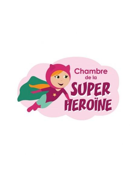 Autres Décorations,Sticker de porte Enfant: Super Héroïne