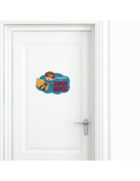 Chambre Enfant Bleu,Sticker de porte Enfant: Super Héros