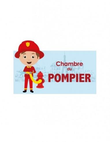 Chambre Pompiers,Sticker de porte Enfant: Pompier