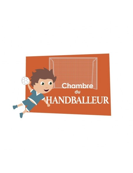 Chambre Enfant Bleu,Sticker de porte Enfant: Handballeur