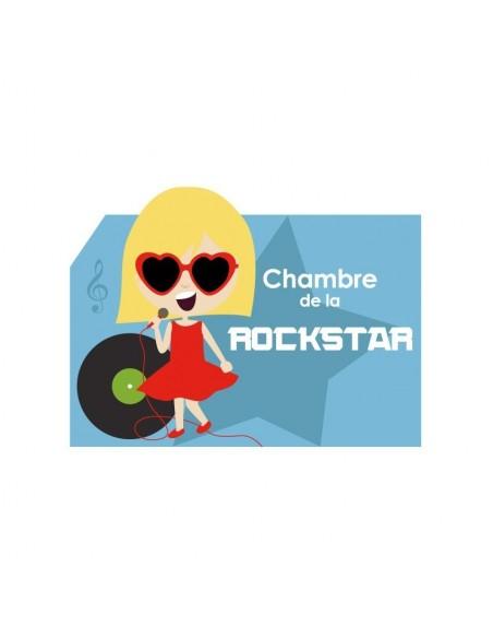 Autres Décorations,Sticker de porte Enfant: Rockstar Fille
