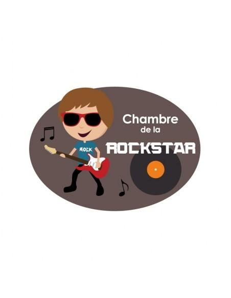 Autres Décorations,Sticker de porte Enfant: Rockstar Garçon