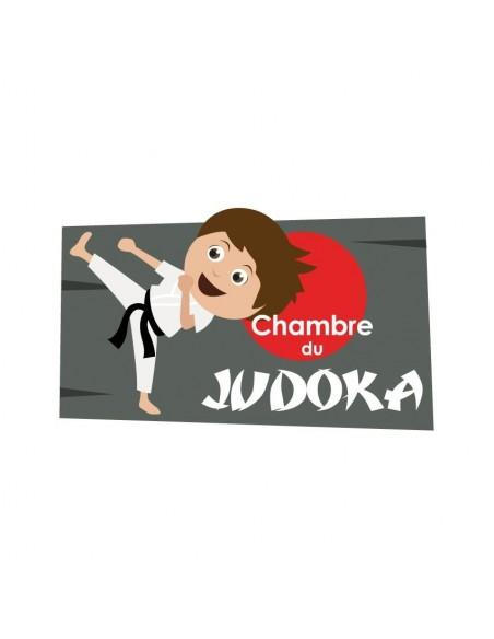 Chambre Enfant Rouge,Sticker de porte Enfant: Judoka