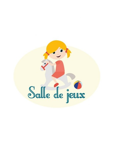 Plaques de porte,Sticker de porte Enfant: Salle de jeux fille