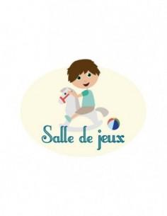 Plaques de porte,Sticker de porte Enfant: Salle de jeux garçon