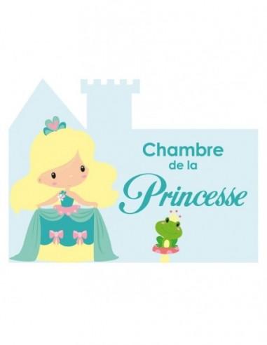 Chambre Princesse,Sticker de porte Enfant: petite princesse