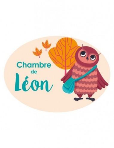 Chambre Enfant Orange,Sticker personnalisée Enfant: Hibou