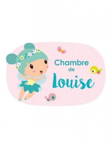 Chambre Princesse,Sticker de porte prénom personnalisable: Fée