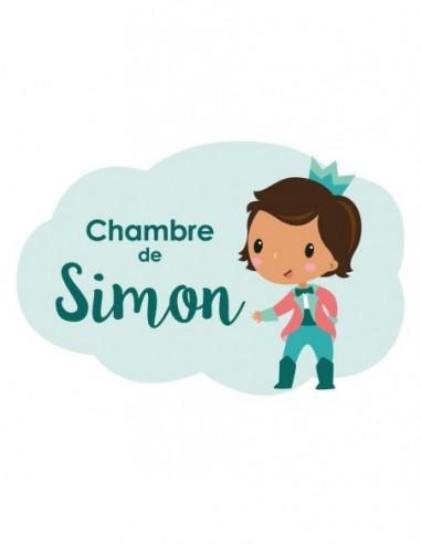 Chambre Princesse,Sticker de porte prénom garçon
