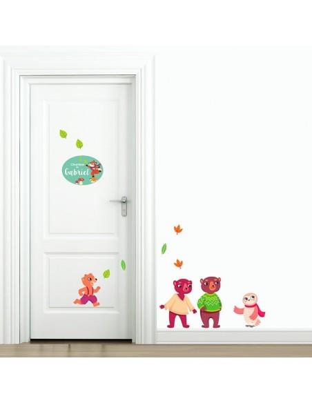 Thèmes chambre Bébé,Sticker de porte Enfant prénom