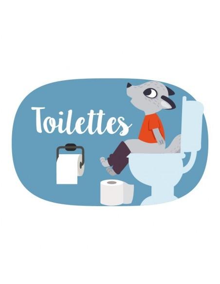 Autres Décorations,Sticker de Porte Enfant: Toilettes