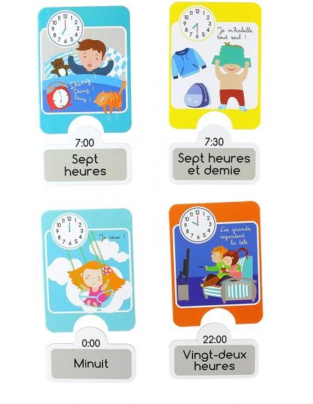 Jeux & Eveil,Carte éducative Enfant: J'apprends l'heure