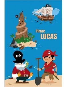 Housse de Couette Bébé,Housse Bébé à personnaliser: Pirate