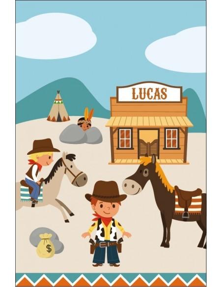 Housse de Couette Bébé,Housse Bébé à personnaliser: Cowboy