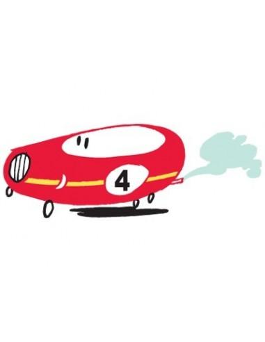 Stickers Voiture & Transports,Sticker Garçon: Voiture Rouge