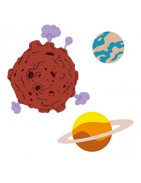 Stickers Espace,Sticker Garçon: 3 planètes