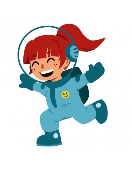 Stickers Espace,Sticker enfant: fille de l'espace