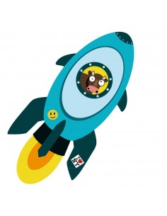Stickers Espace,sticker garçon: Fusée