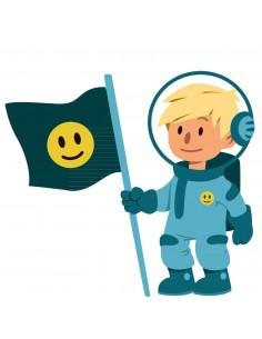 Stickers Espace,Sticker Garçon: garçon drapeau