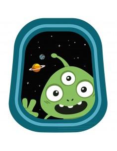 Stickers Espace,Sticker Garçon: Hublot E-T