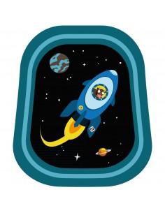 Stickers Espace,Sticker Garçon: Hublot navette bleue