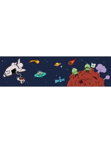 Stickers Espace,Sticker Garçon: Frise couleur planète