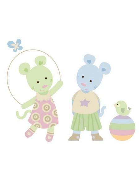 Stickers Nounours Doudous,Sticker bébé: Doudou corde a sauter