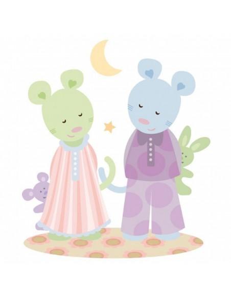 Stickers Nounours Doudous,Sticker bébé: les doudous rêves